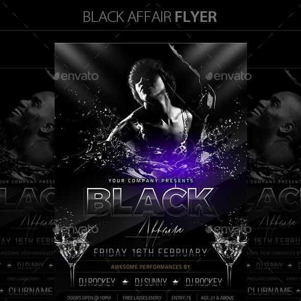 Black Affair Flyer