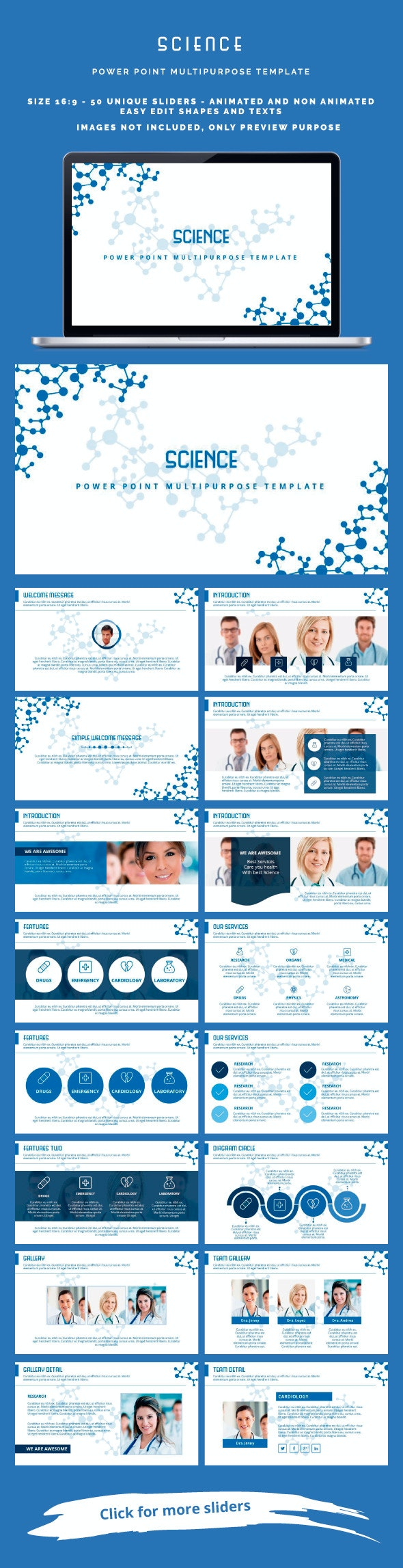 Science Power Point - Miscellaneous PowerPoint Templates