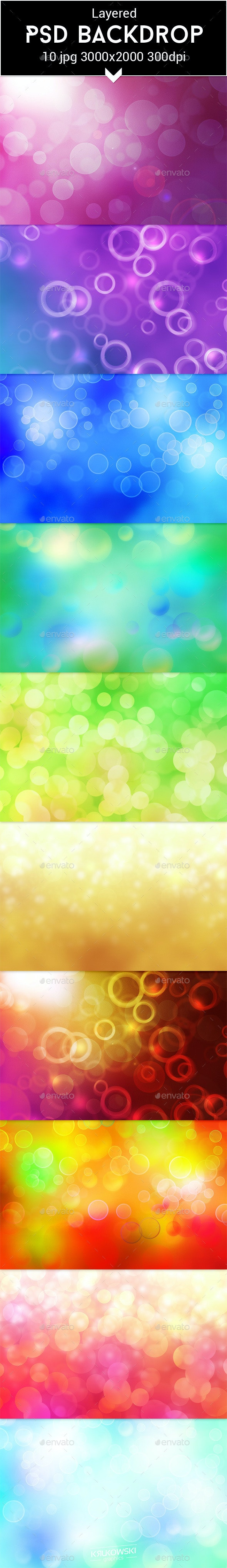 Bokeh PSD Backdrop - Abstract Backgrounds