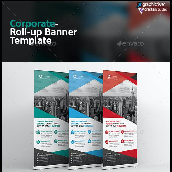 Corporate Roll-up Banner-Multipurpose