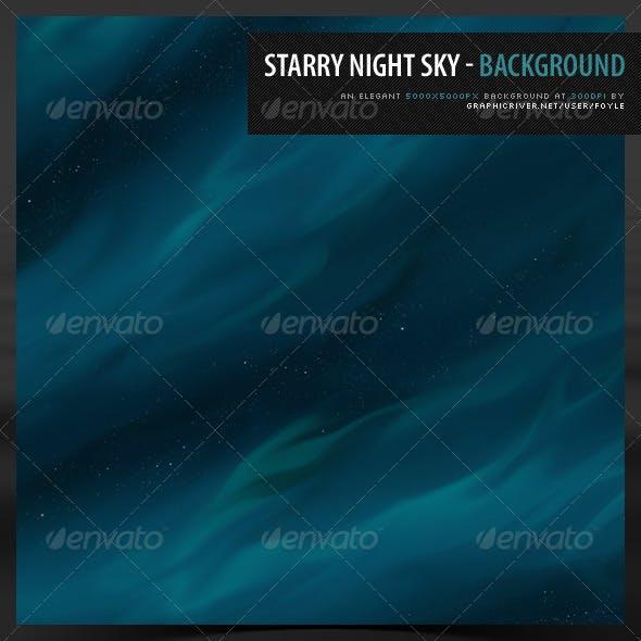 Starry night sky - Background
