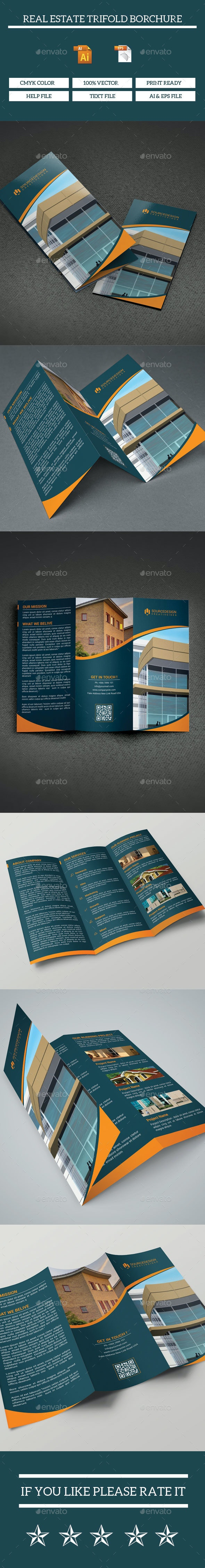 New Start Real Estate Company Trifold Brochure - Brochures Print Templates