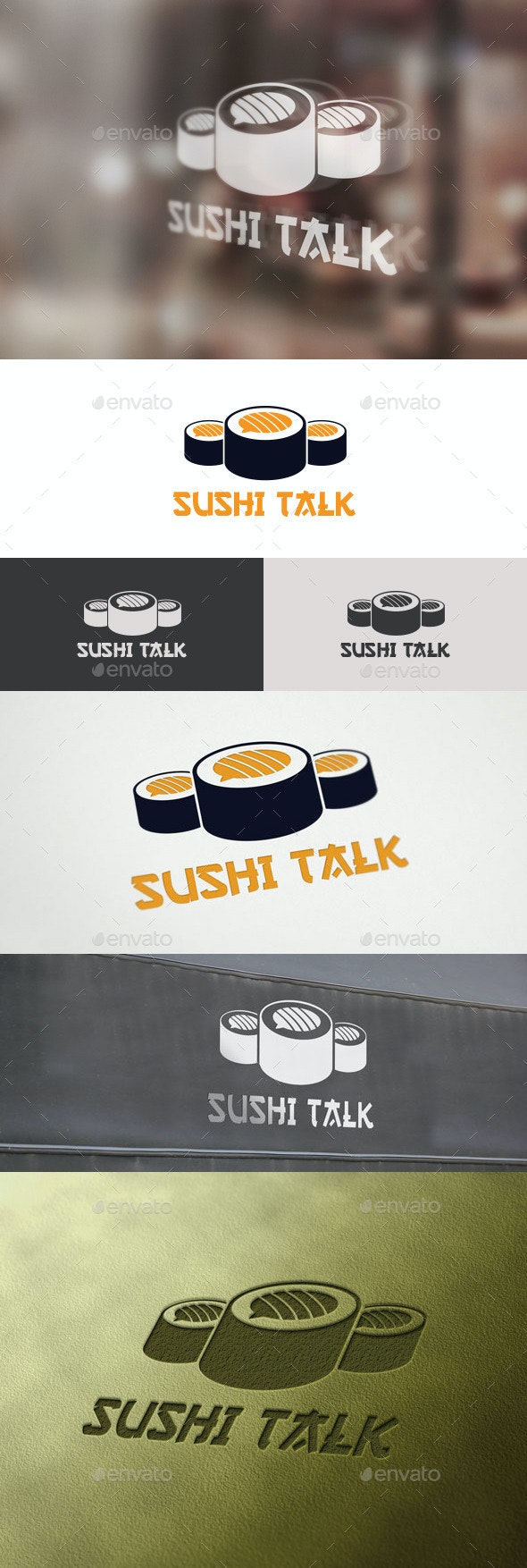 Sushi Talk Logo - Food Logo Templates
