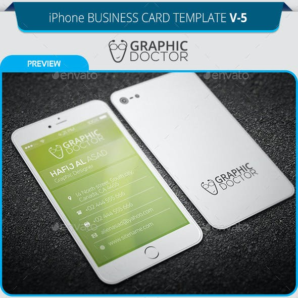 iPhone Business Card Template V-5