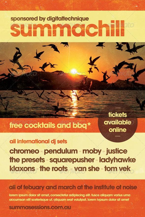 Summachill - Summer Flyer Template - Clubs & Parties Events