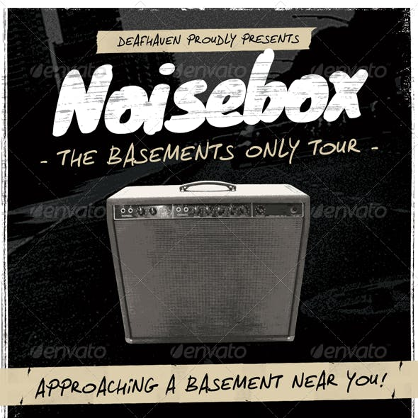 Noisebox - Grunge Flyer Template
