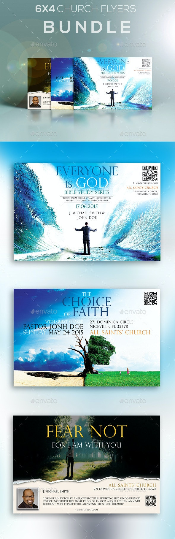 6x4 Church Flyers Bundle - Church Flyers