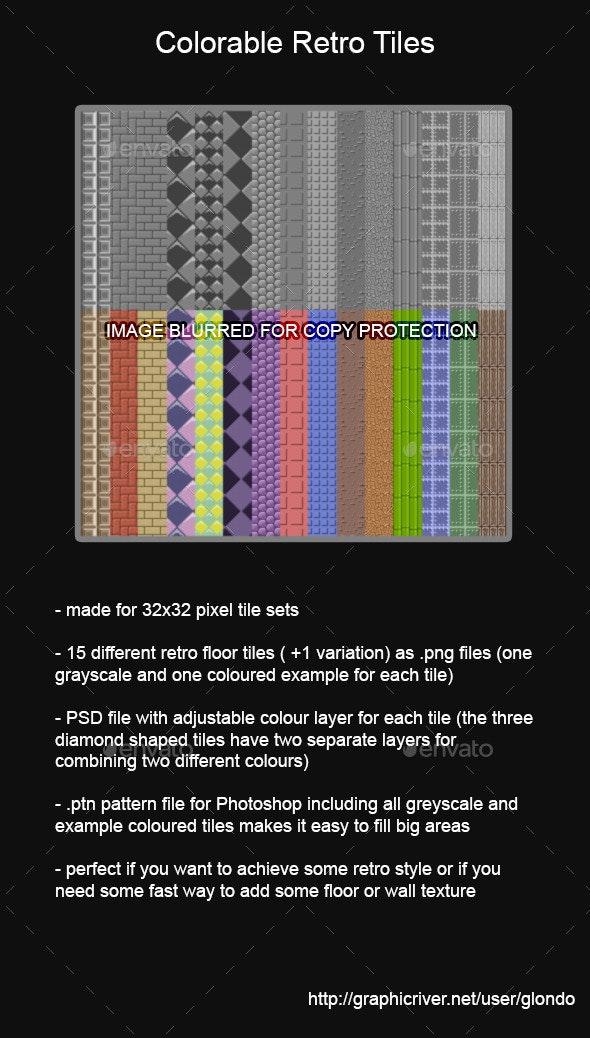 32x32 pixel Retro Floor/Wall Tiles