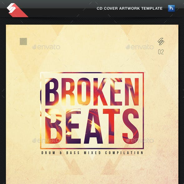 Broken Beats Vol2 - CD Cover Artwork Template