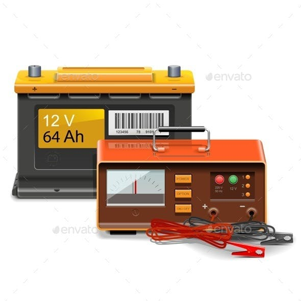 Car Battery Charge Concept