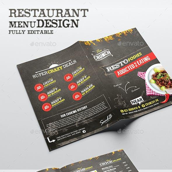 Food Menu - Chalk Board Restaurant