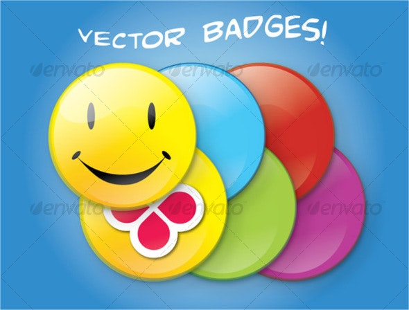 Vector Badges - Man-made Objects Objects