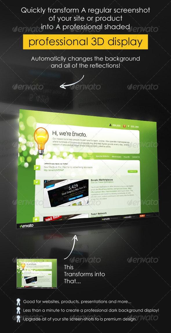 Professional Dark 3d Web Display - Website Displays