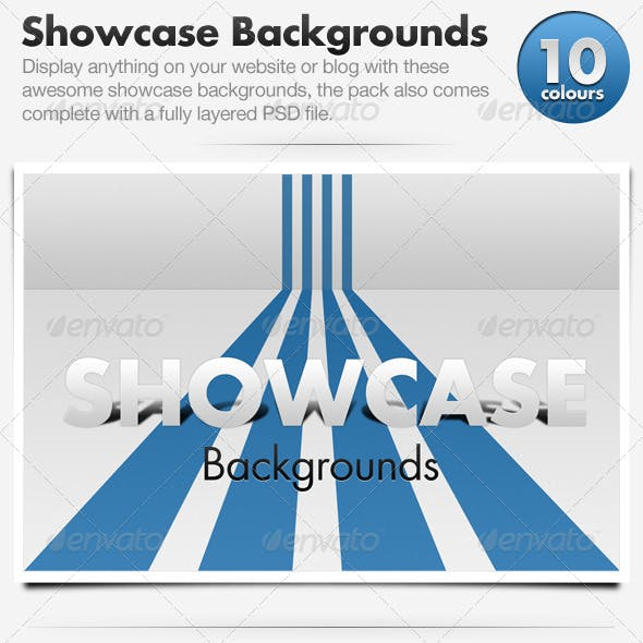 3D Showcase Line Backgrounds x10