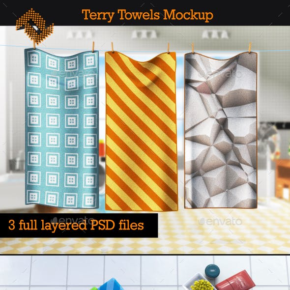 Terry Towels Mockup