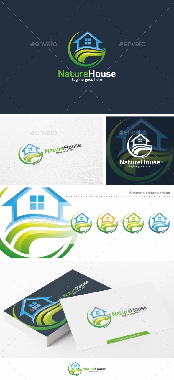 Nature House / Home - Logo Template
