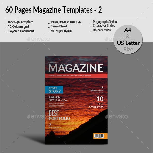 60 Pages Magazine Templates - 2