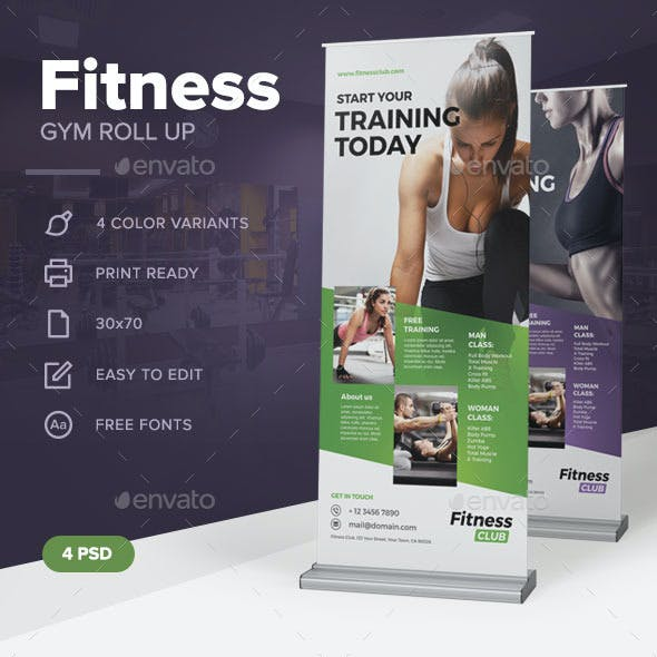Fitness Gym Roll Up