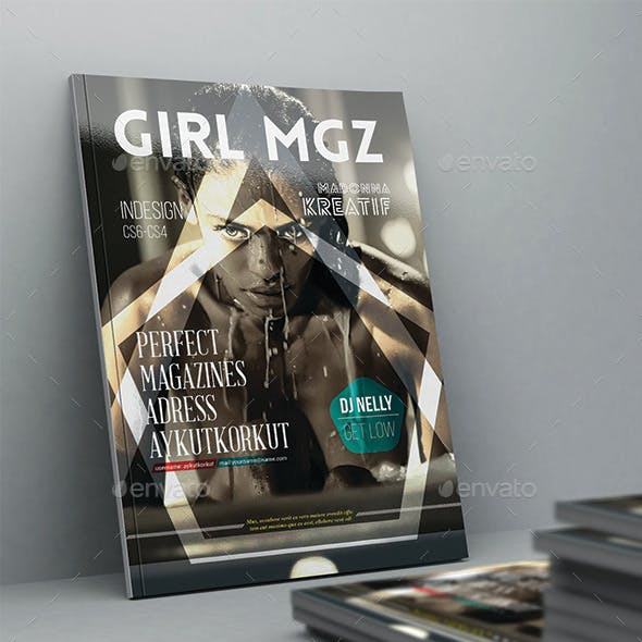 Girl Magazine Template 42 Pages