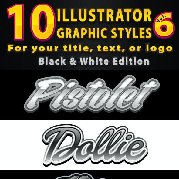 10 Illustrator Graphic Styles Vol.6