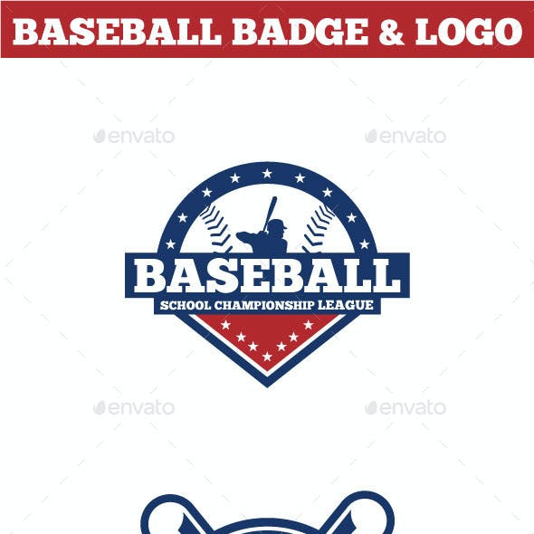 Baseball Badge & Logo 2