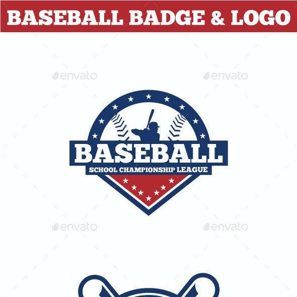 Baseball Badge & Logo 2