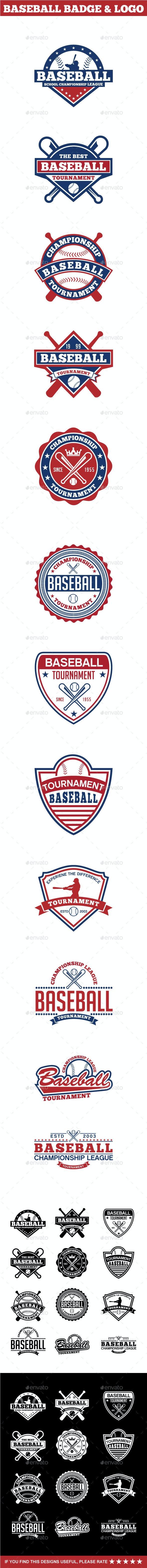 Baseball Badge & Logo 2 - Badges & Stickers Web Elements
