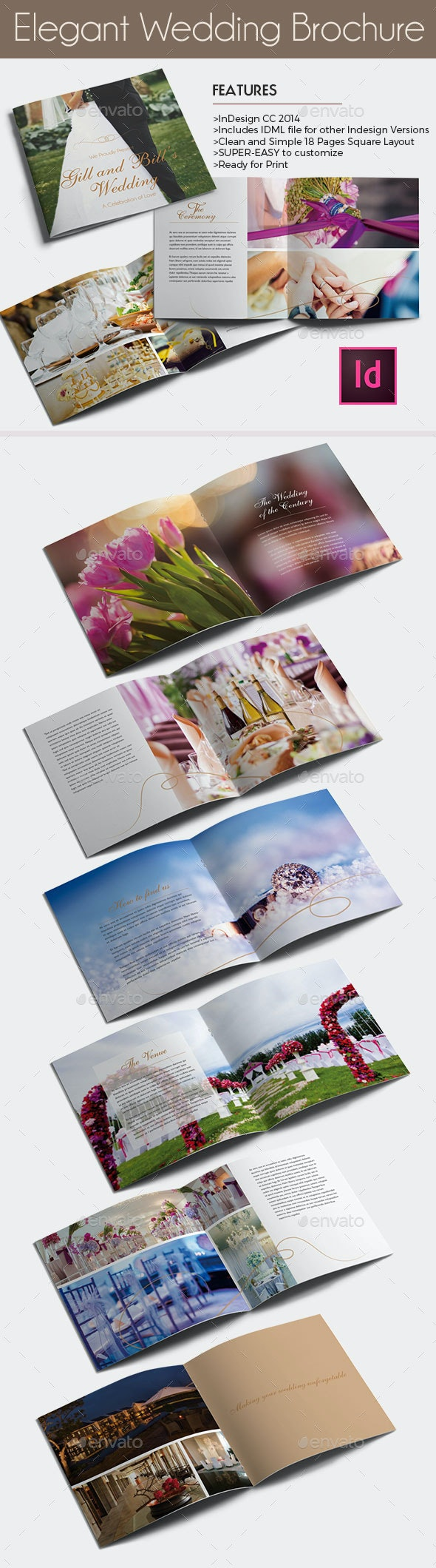 Elegant Wedding Brochure Template - Catalogs Brochures