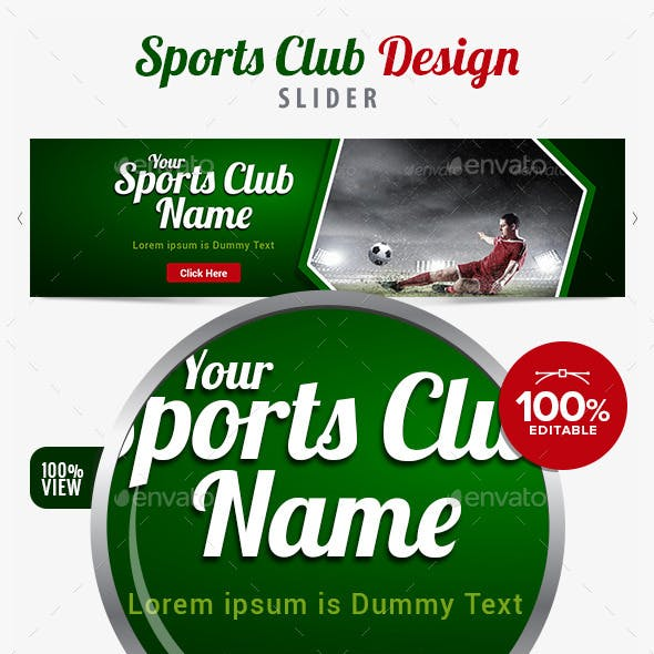 Sports Club Slider