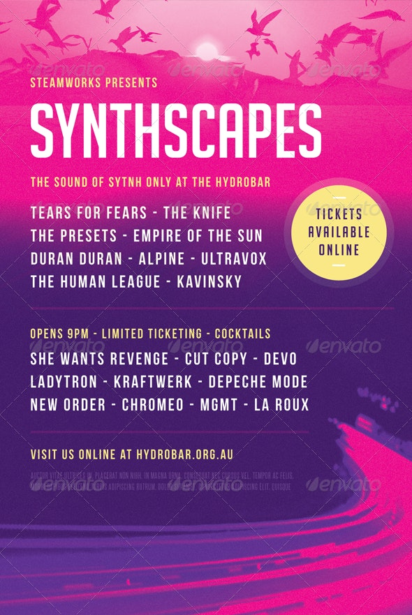 Synthscapes - Flyer Template - Concerts Events