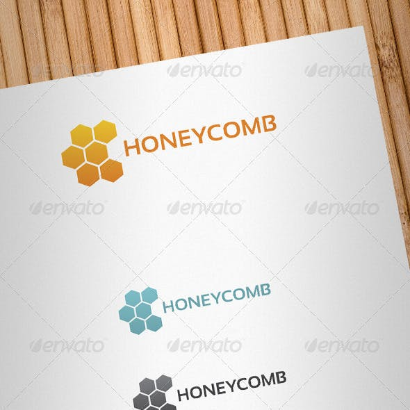 Honeycomb Logo Template