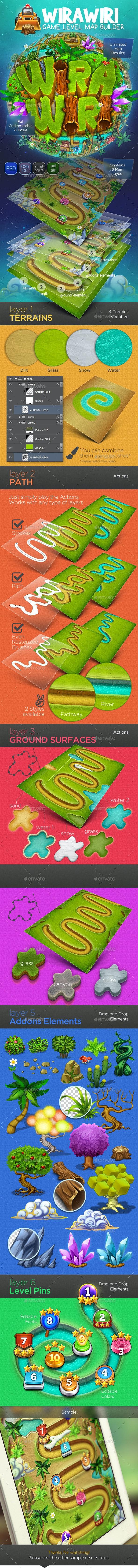 Wirawiri: Game Level Map Builder - Game Kits Game Assets