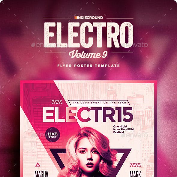 Electro Flyer/Poster Vol. 9
