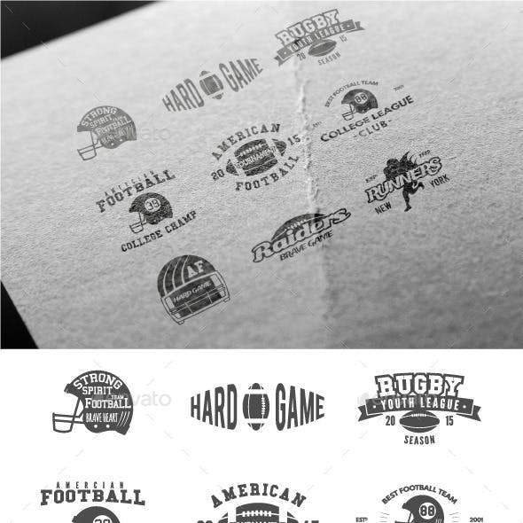 Sports American Football Badges