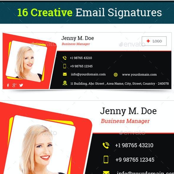Email Signature Templates- Creative 16 Designs