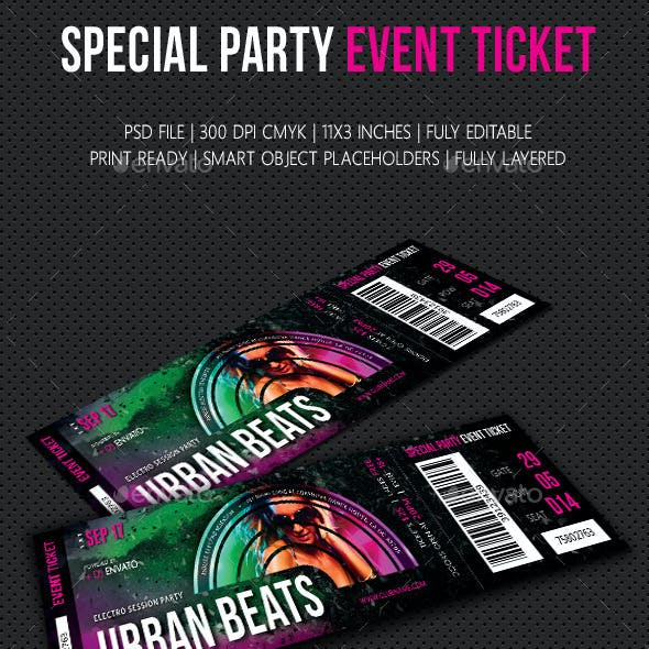 Special Party Event Ticket V06