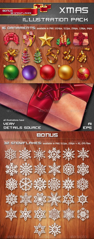 Xmas Illustration Pack - Seasons/Holidays Conceptual