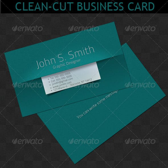Clean-Cut Business card