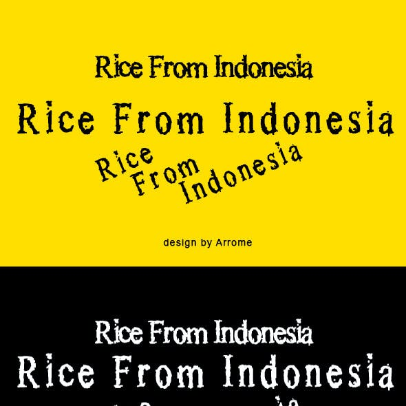 Rice From Indonesia