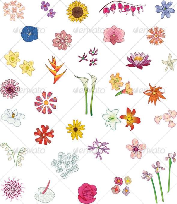 Flowers Set - Flowers & Plants Nature