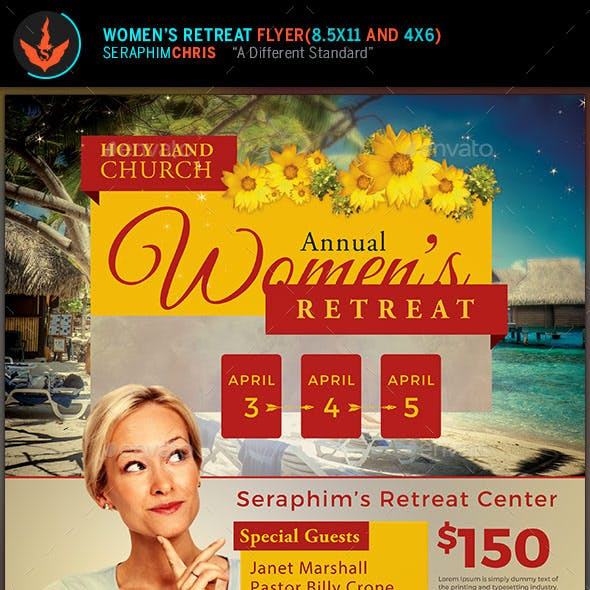 Church Women's Retreat Flyer Template