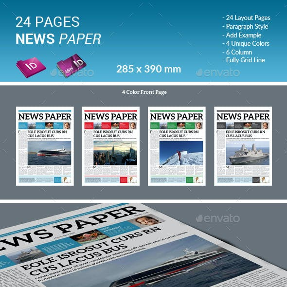 24 Pages Newspaper