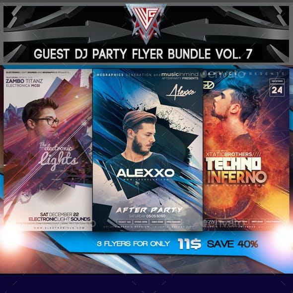 Guest DJ Party Flyer/Poster Bundle Vol. 7