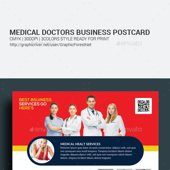Medical Doctors Postcards Bundle