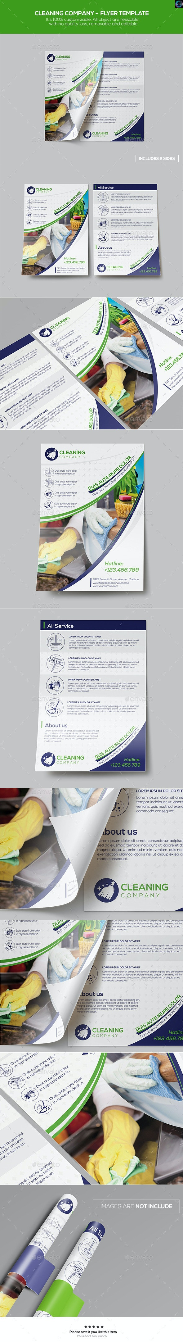 Cleaning Company - Flyer Template - Corporate Flyers