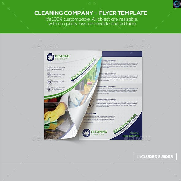 Cleaning Company - Flyer Template
