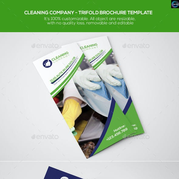 Cleaning Company - Trifold Brochure Template