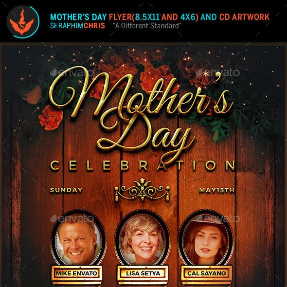 Mother's Day Celebration Flyer and CD Cover