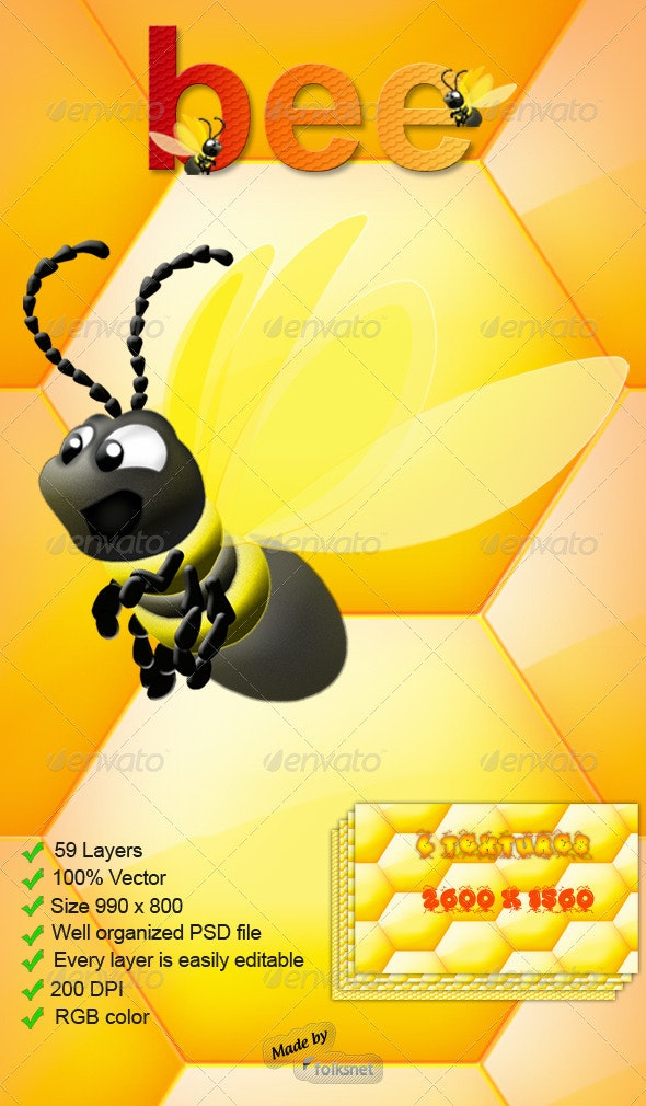 Bee Graphic - Animals Illustrations