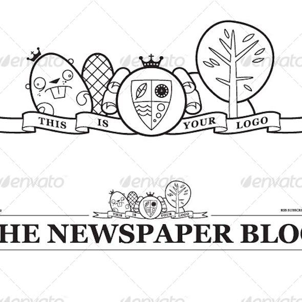 Download Vector Newspaper Blog Header